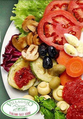 Opções de Saladas e antipastos