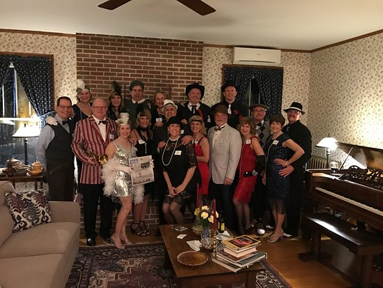 Danville  Knox County, OH: Headline making Roaring 20's Murder Mystery at the gracious White Oak Inn Bed & Breakfast!