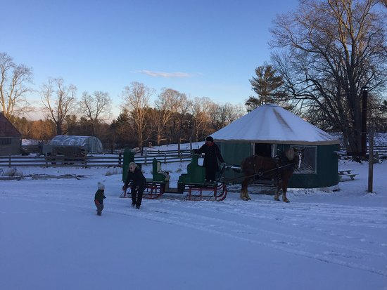 Lee, NH: We had such a great time on our sleigh ride.  This is a must for couples and family looking to g