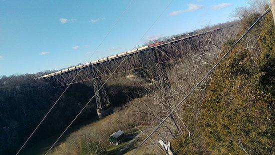 Wilmore, KY: High Bridge with Train