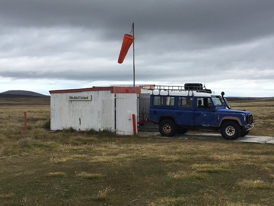 West Falkland, Falkland Islands: Weddell Island International Airport.