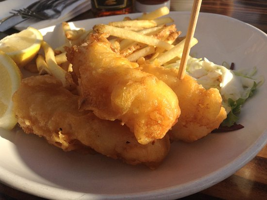 Menu picture of fisherman 39 s restaurant and bar san for Fish chips restaurant