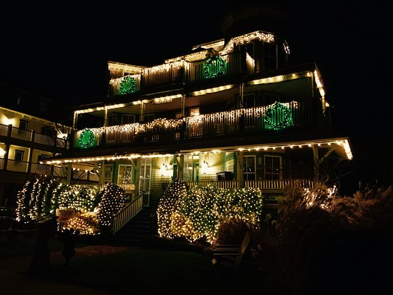 The Majestic Hotel: Lit up for Christmas