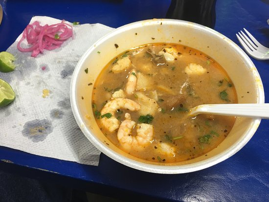 Nogales, AZ: Shrimp and fish soup. Great stuff!