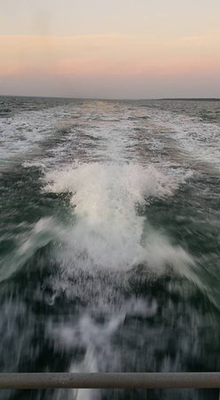 The wake on trip back to Cowes