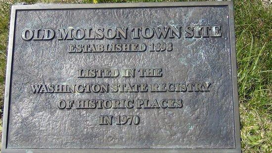 Oroville, WA: Old Molson townsite plaque