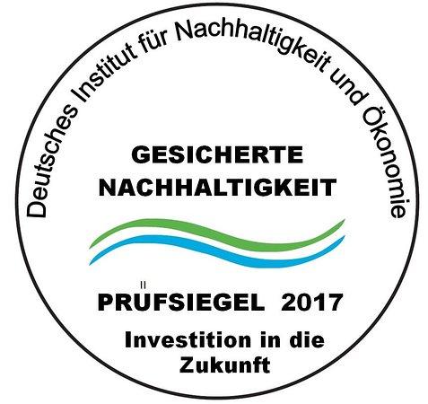 Hotel Bredeney : Prüfsiegel/Nachhaltigkeitszertifikat 2017