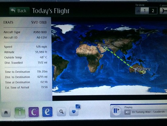 Sydney to dubai flight map picture of emirates world tripadvisor emirates sydney to dubai flight map gumiabroncs Image collections