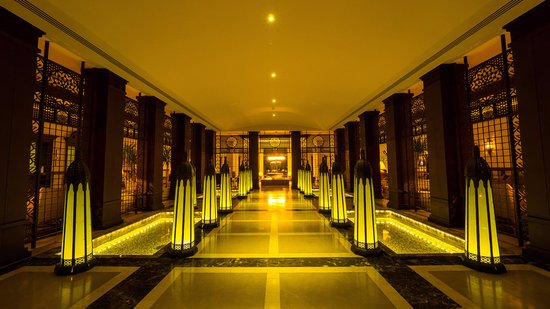The Makadi Spa Hotel (Adults Only): Entering the hotel lobby