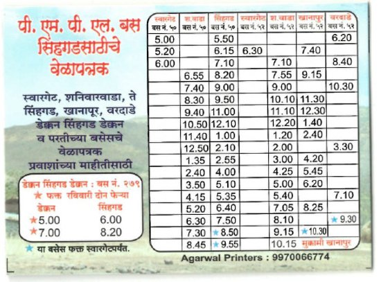 Pune Local Train Time Table Pdf