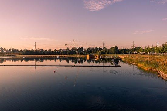 Restaurant und Wasserskianlage im Stadtpark Norderstedt