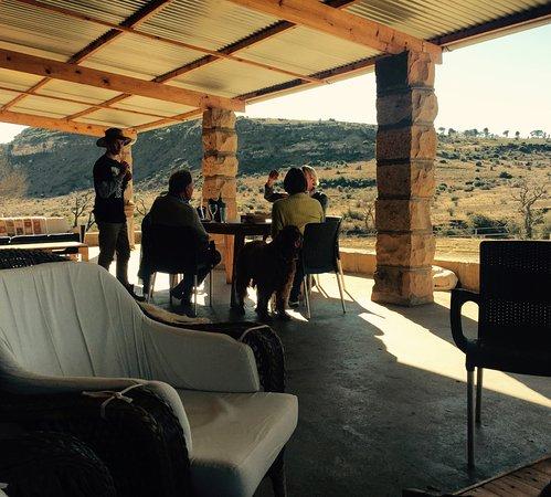 Rosendal, South Africa: Veranda with lovely views.
