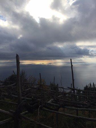 Furore, Italia: Panorama tramonto
