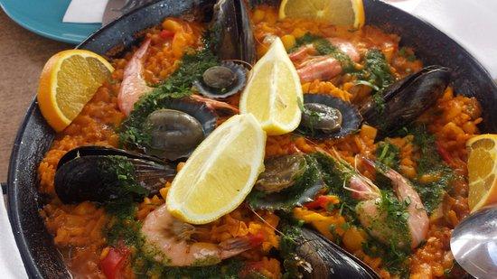 Restaurante La Gamba Loca : paella de mariscos
