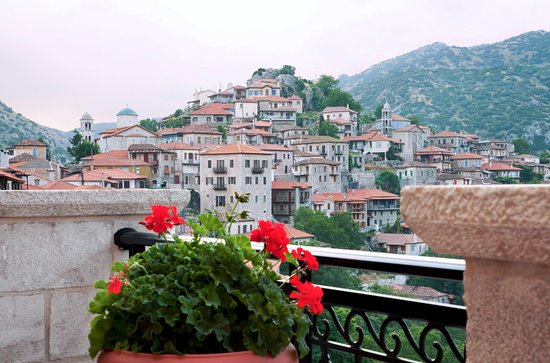 Amanites Guesthouse: The view of Dimitsana from Amanites terrace