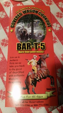 Bar-T-5 Covered Wagon Cookout: Event brochure.