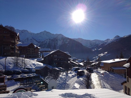 Peisey-Vallandry, France : view from Bar Mont Blanc Terrace