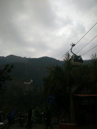 Kurintar, Nepal: The cable car