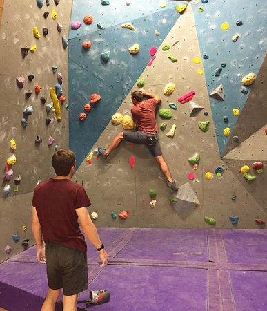 Northleach, UK: indoor bouldering