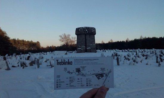 Polonia Central, Polonia: Memorial y entrada al museo (mapa) de Teblinka
