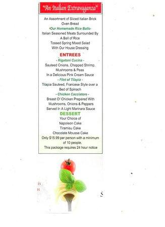 Mario's Pasta Cucina: Stony Point Pasta Cucina Only