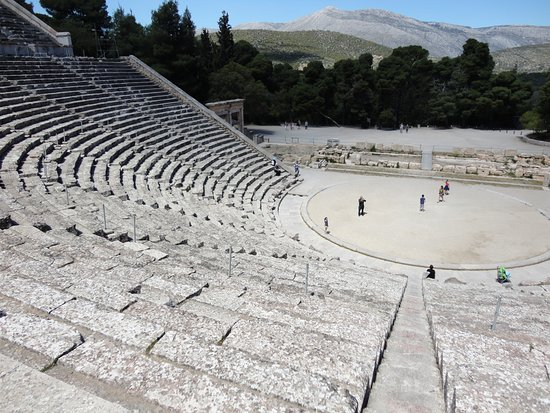 Epidavros, Greece: Epidaurus ancient theater