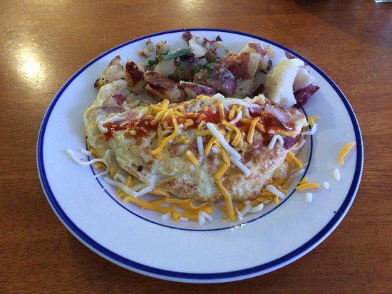Blanco, TX: Western Omlete with potatoes