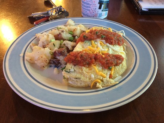 Blanco, TX: Spanish Omelete with home fries (really skillet potatoes).