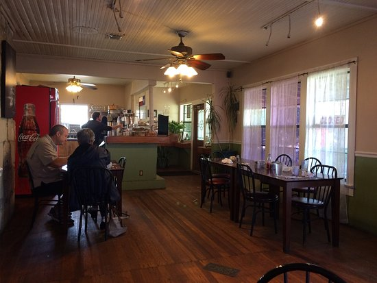 Blanco, TX: Front room of the Chess Club Cafe.