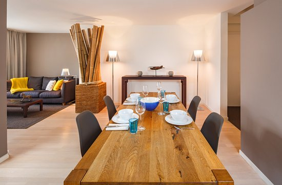Dining And Living Room Apartment Picture Of Hotel Rossli
