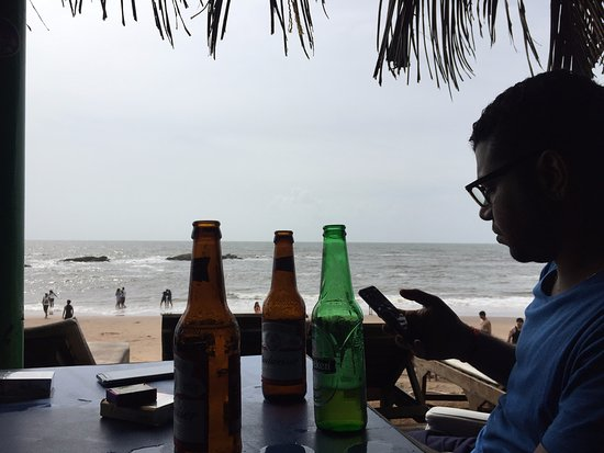 Anjuna, India: view from Shack