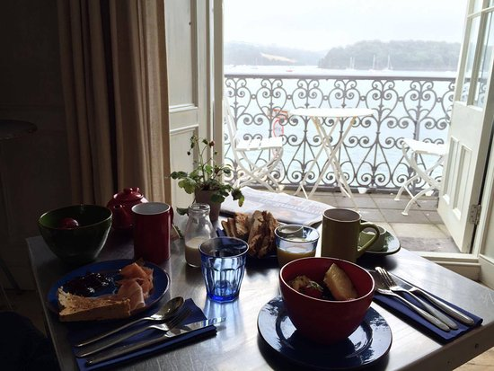 St Mawes, UK: breakfast