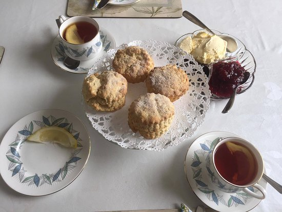 Princetown, UK: scones and tea