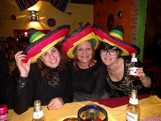 Girls with Sombreros - Picture of La Parrilla Mexicana, Milan ...