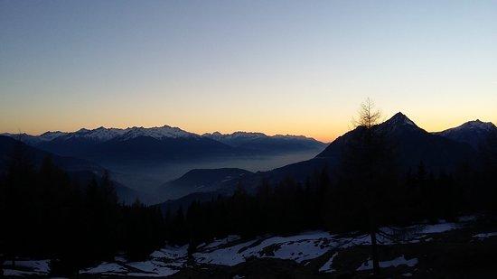 sunset on Ugine
