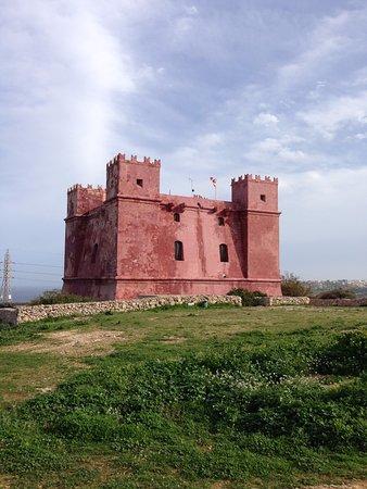 San Gwann, Malta: St. Agatha's Tower, ancient castle in northern part of Malta