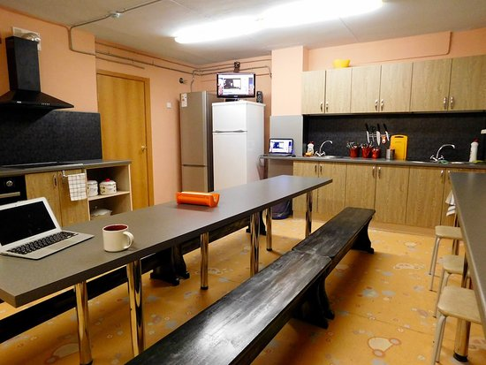 Kirovsk, Rusia: Общая кухня хостела Акка Книбекайзе