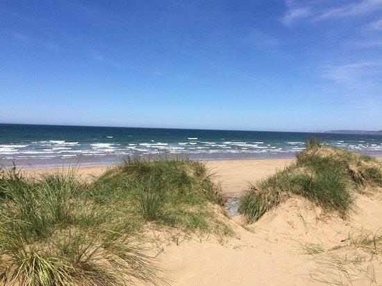 Westward Ho, UK: Westwood Ho! beach from Northam Burrows