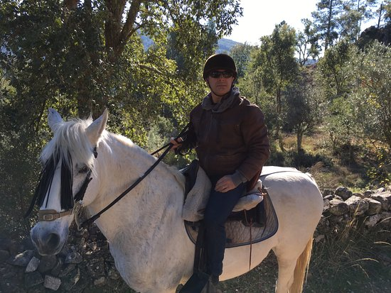 Santo Antonio Das Areias, Portugal: Antonio's first horseback ride!