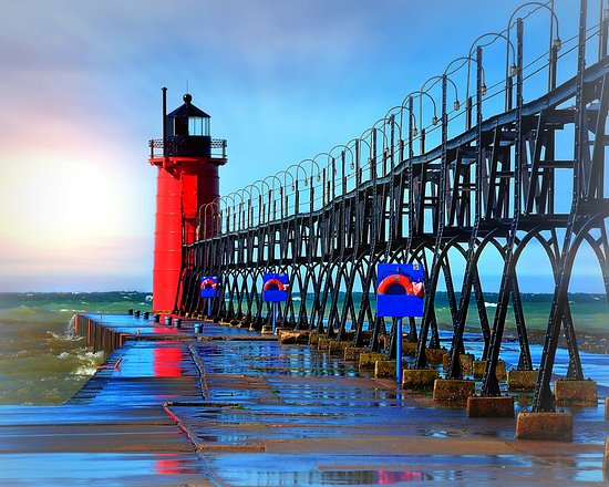 South Haven Lighthouse in Michigan
