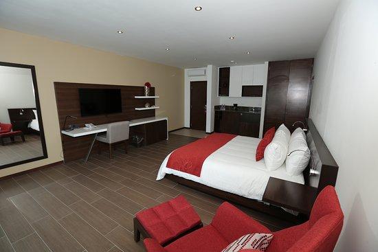 Habitaci n junior suite sencilla estilo moderno y for Habitaciones estilo minimalista
