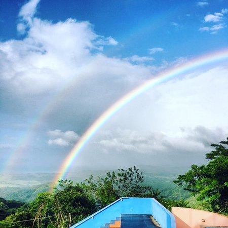 Playa Hermosa, Costa Rica: Rainbows at breakfast