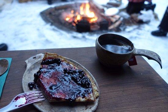 Ylitornio, Finland: Pancakes with tea