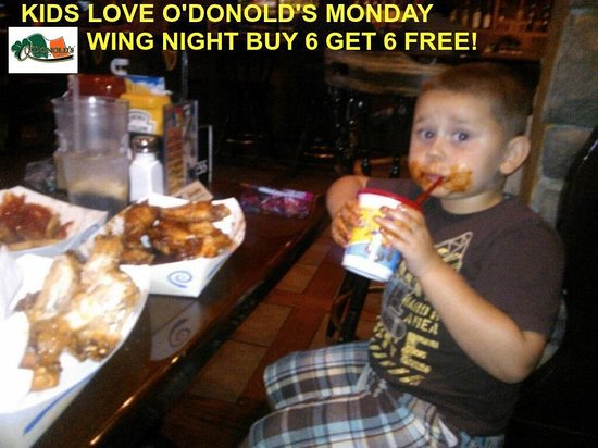 Youngstown, OH: Kids love the wings