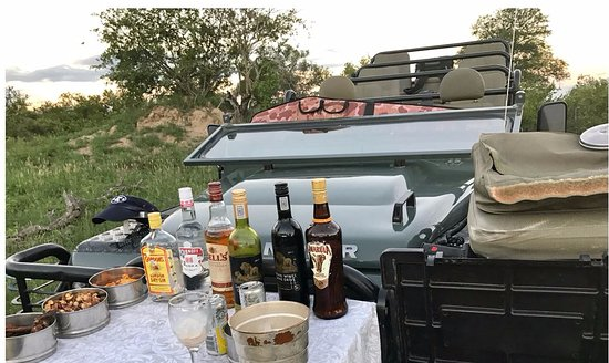 Leopard Hills Private Game Reserve, South Africa: Happy hour in the bush.