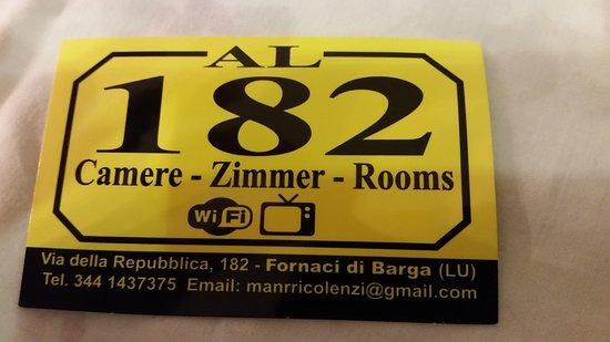 Fornaci di Barga, Italia: Biglietto da visita