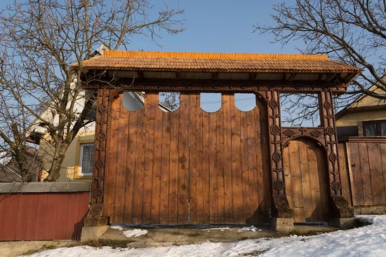 Traditional wooden gates in Maramures County, Romania