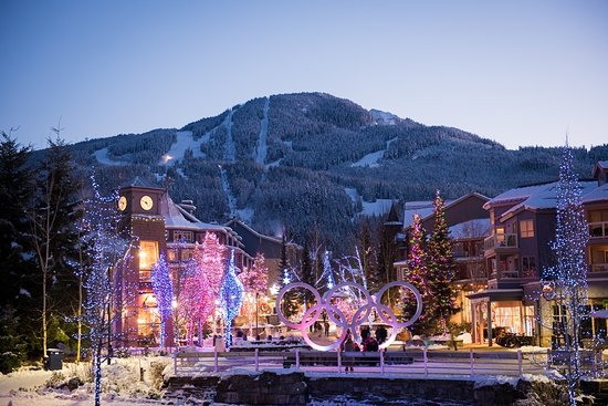 Winter in the Whistler Village Photo by Mike Crane