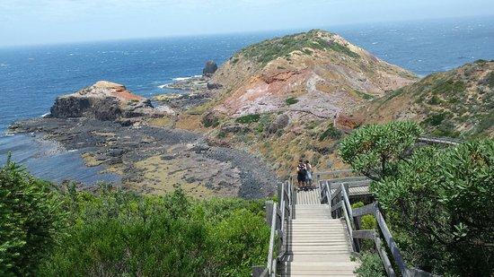 Cape Schanck, Australia: Boardwalk to beach from Lighthouse