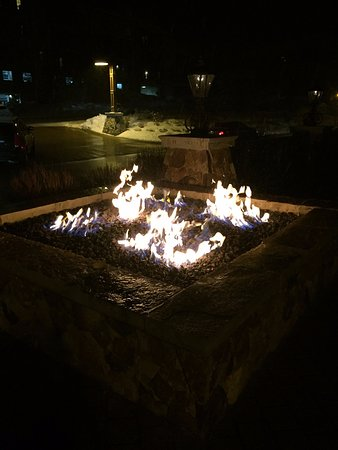 Waldorf Astoria Park City: fire pit at front of property